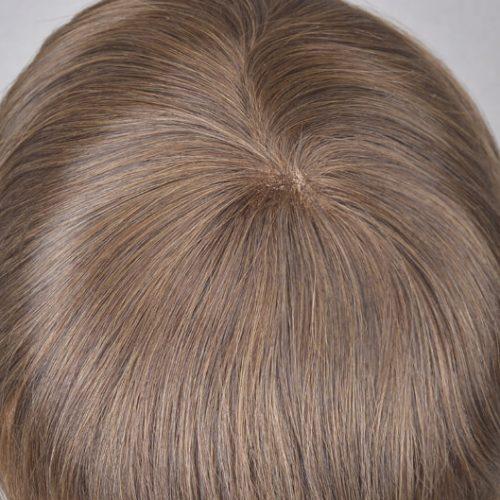 China silk mono hair toupee (2)
